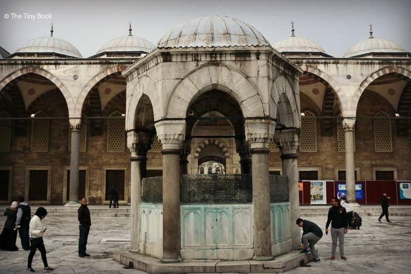 The Holy Soul of Istanbul: The courtyard at the entrance of the Blue Mosque.