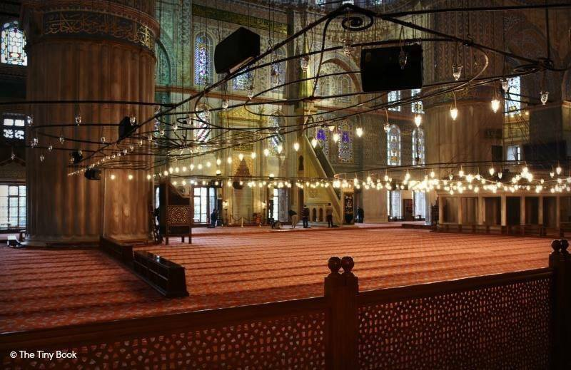 The Holy Soul of Istanbul: Area dedicated to prayer inside the Blue Mosque