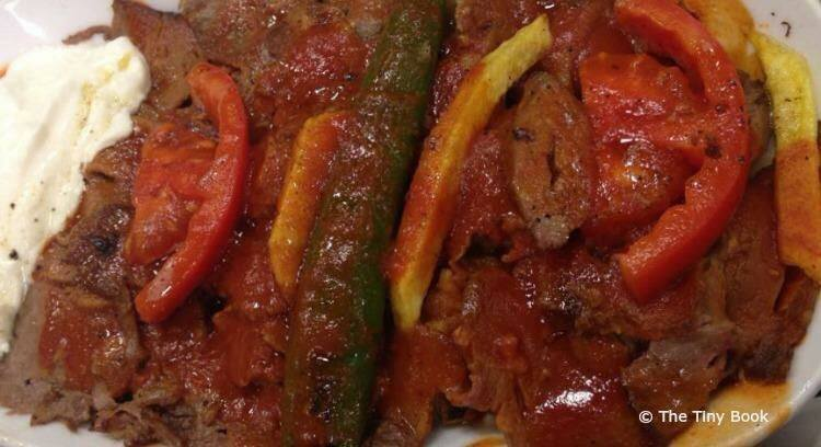 A dish of Iskender.