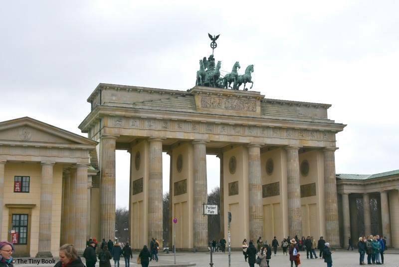 Berlin, Brandebug Gate. World War II streets of Berlin