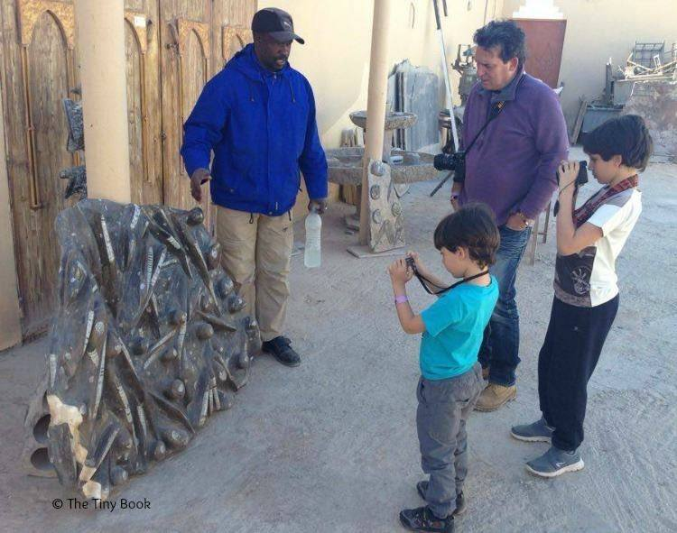 Learning about fossils. Morocco. The importance of travel for children
