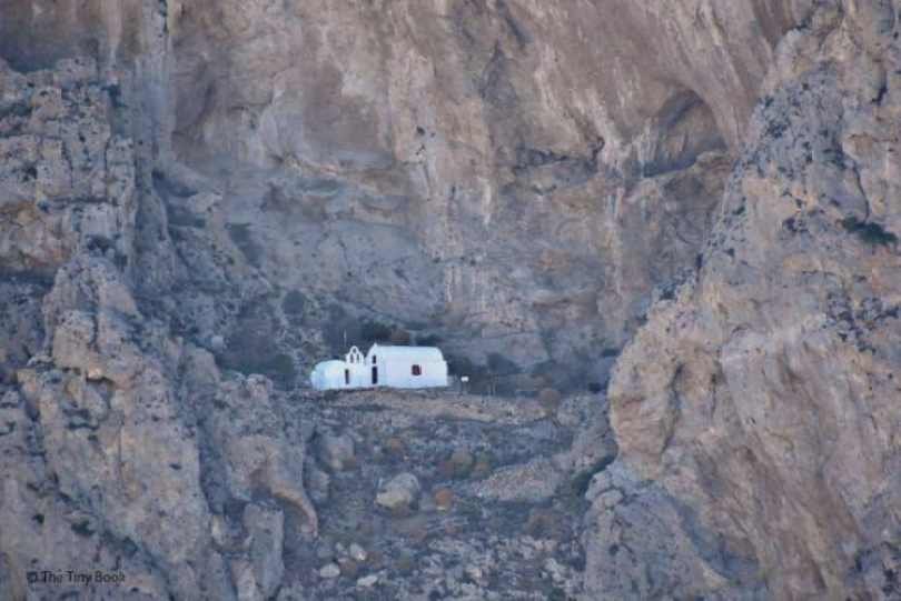 Church in the mountain, Perissa, Santorini. Santorini dreamy photo destination