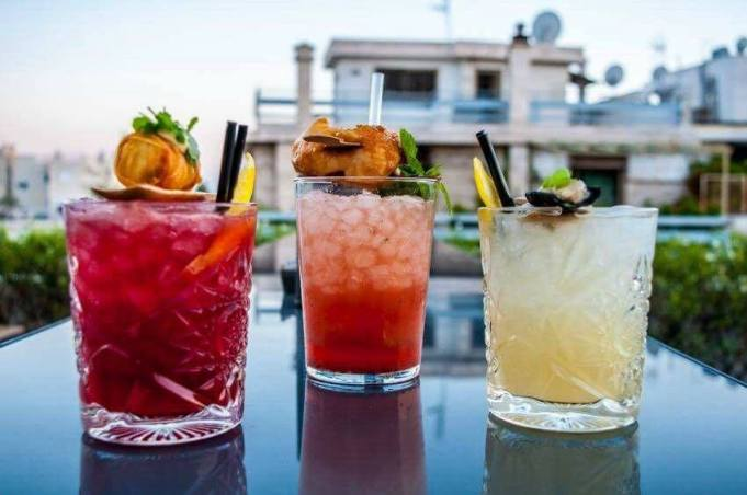 Cocktails in Heaven, Athens. Point α Bar & Restaurant.