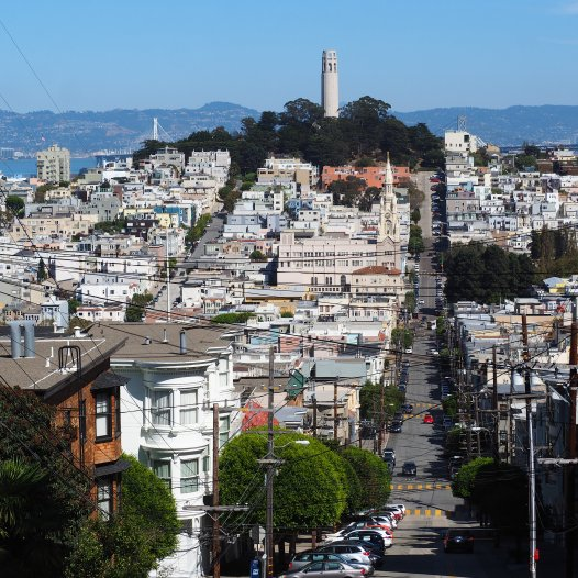 View on Telegraph Hill from Russian Hill