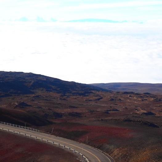 The road to the top of the Mauna Kea
