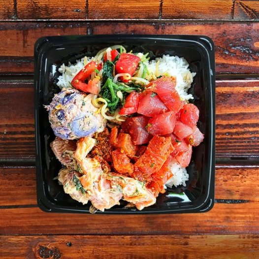 A plate at Poke n Sides