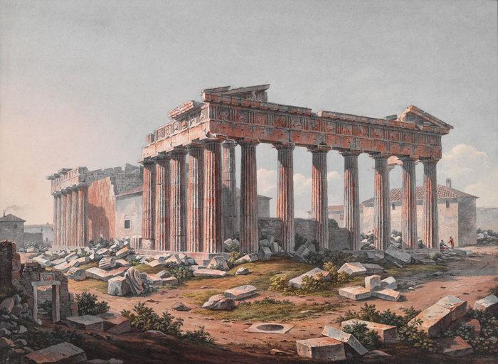 Ο Παρθενώνας, 1805 Edward Dodwell; watercolor. The Packard Humanities Institute