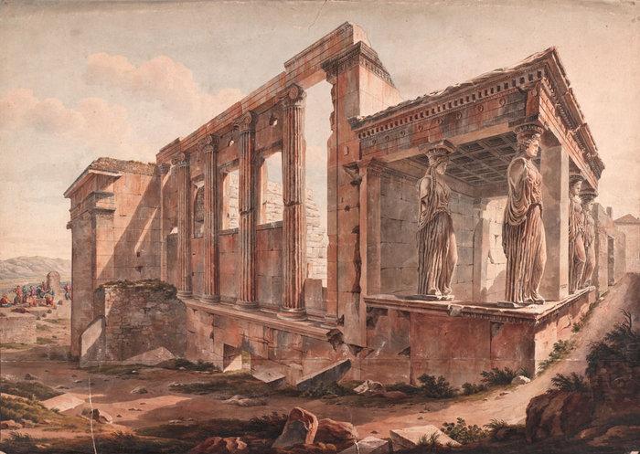 Ερέχθειο, Edward Dodwell; watercolor. The Packard Humanities Institute