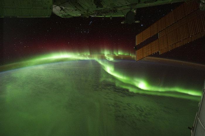 Το Βόρειο Σέλας όπως αποτυπώθηκε από το ISS καθώς περνούσε πάνω από τον Ινδικό Ωκεανό, 17 Σεπτεμβρίου 2011. Φωτο: Flickr/NASA