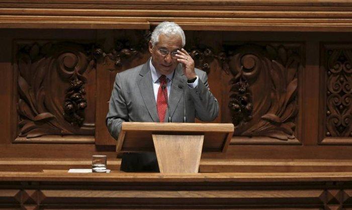 Ο πρωθυπουργός της Πορτογαλίας Αντόνιο Κόστα κατά τη διάρκεια συνεδρίασης της Βουλής