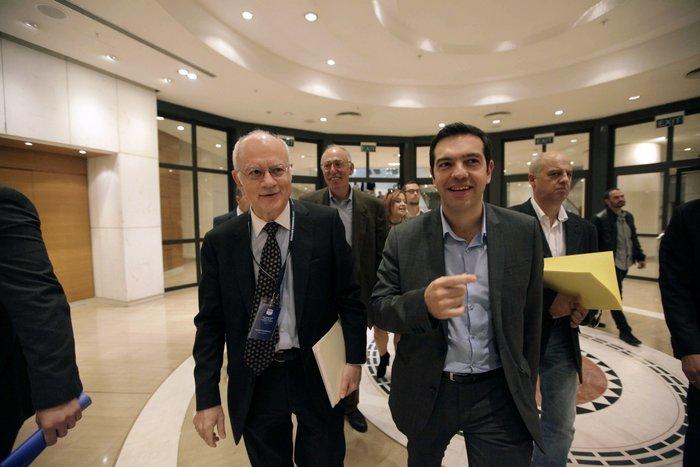 Ο Δημήτρης Παπαδημητρίου με τον πρωθυπουργό Αλέξη Τσίπρα
