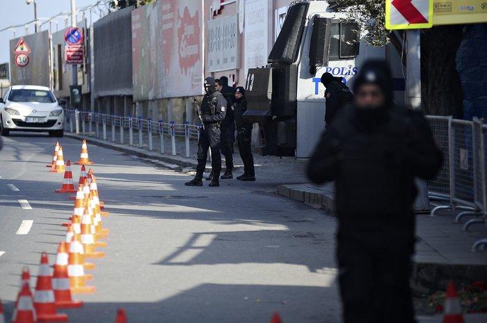 Τουρκικές αστυνομικές δυνάμεις κοντά στο σημείο που έγινε η επίθεση