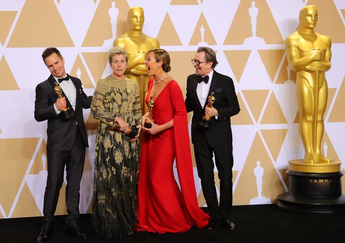 Sam Rockwell, Frances McDormand, Allison Janney και Gary Oldma