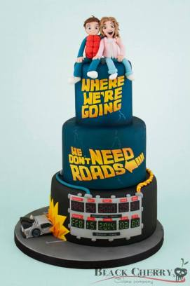 Tracey Rothwell (c) Back to the Future cake