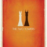 Tolkien Minimalist Posters: Patrick. Connan. The Two Towers (c)