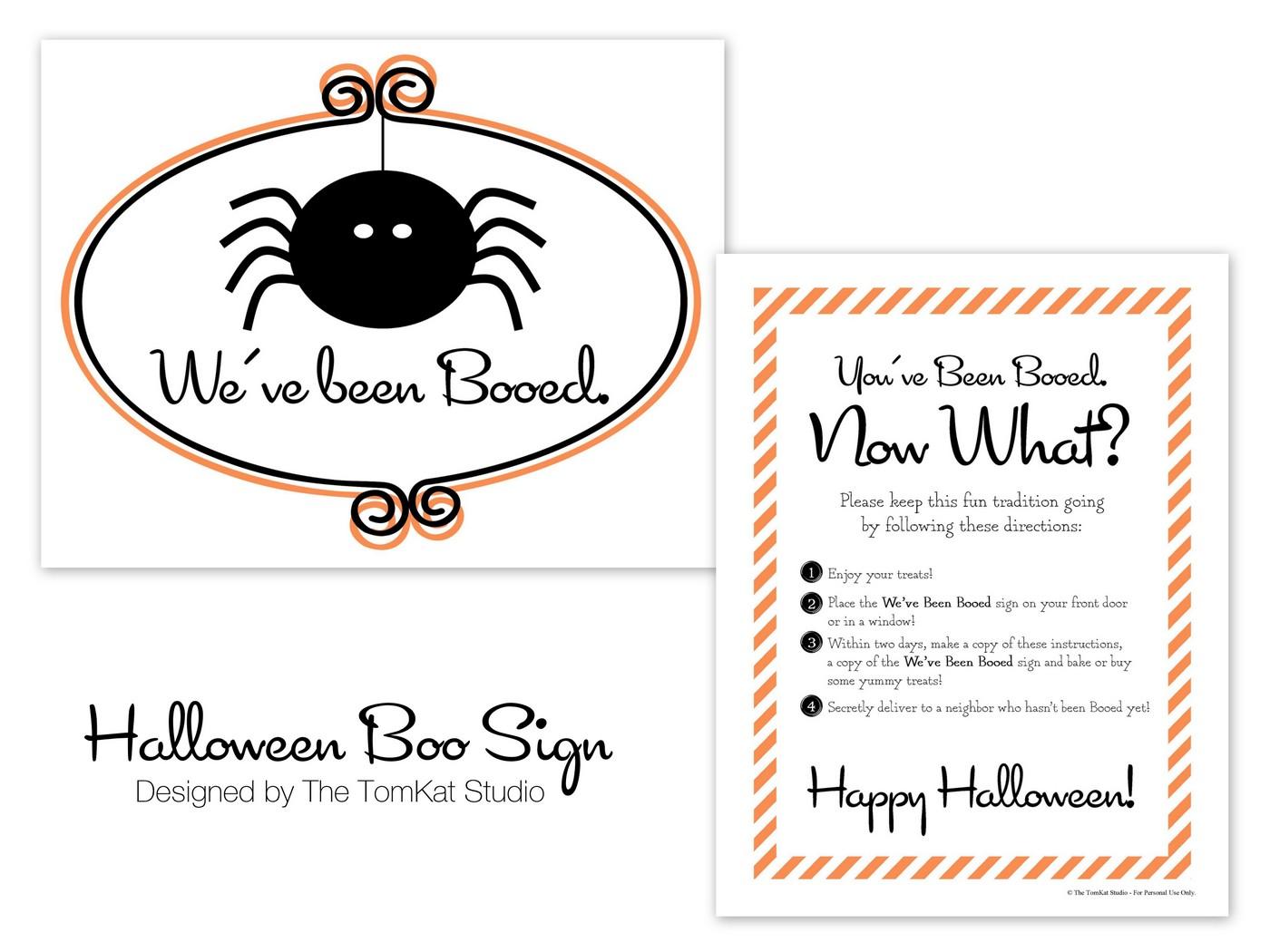 Free Printable Boo Sign Designs