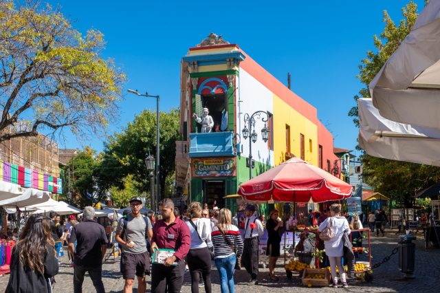 El Caminito - The street with the colorful houses of La Boca