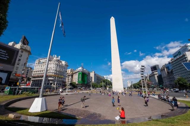 The Obelisco, Avenida 9 de Julio
