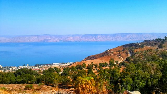 The Sea of Galilee lake and the Golan Heights - israel beautiful places, israel is beautiful