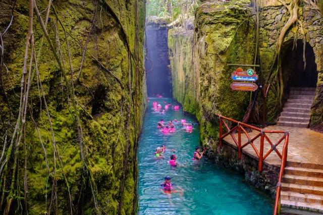 Underground river at XCaret park. adventurous things to do in riviera maya. things to do at riviera maya mexico. riviera maya attractions