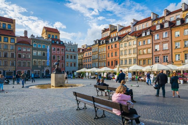 The main square of Warsaw's old city