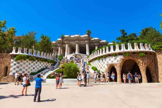 The main entrance to Park Guell - barcelona places to visit
