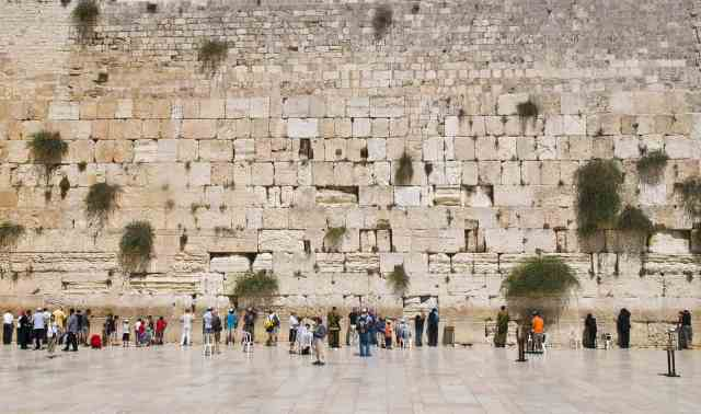 The Western Wall in the old city of Jerusalem. One of the important things to see in jerusalem old city