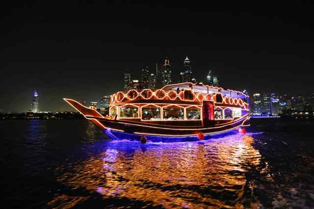 Dhow Cruise is one of dubai attractions