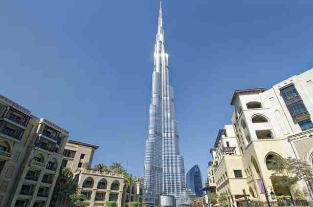 Burj Khalifa - the world's tallest building. things to see in dubai. dubai activities. The skyscrapers of Dubai can be seen from sheikh zayed road