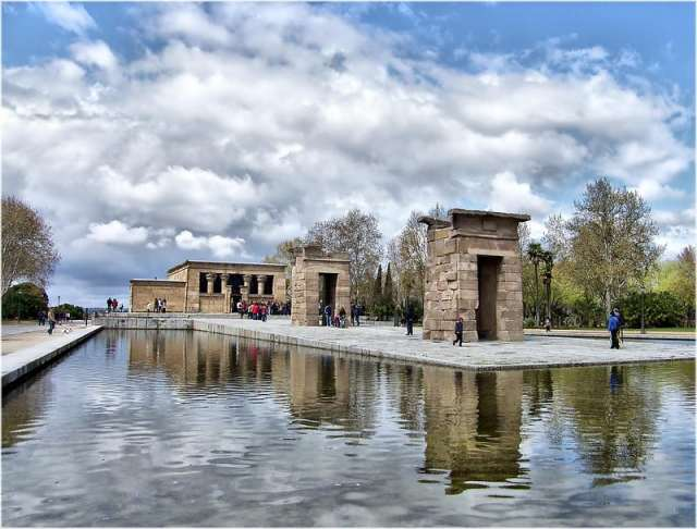 The Temple of Debod is one of the unique things to do in madrid. madrid things to do. madrid what to visit