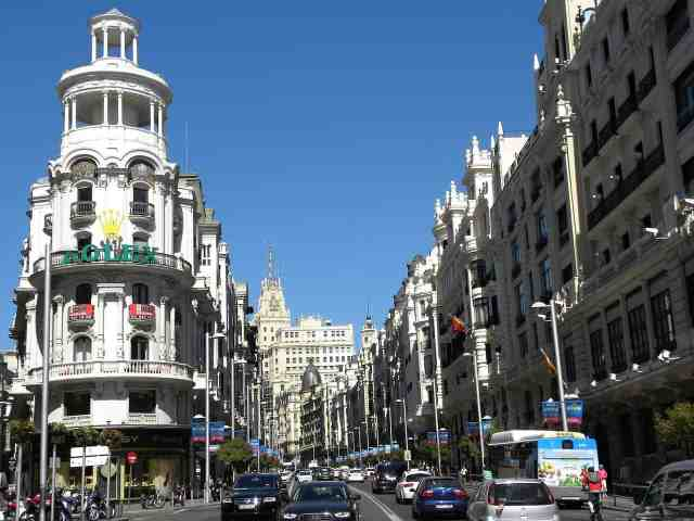 Gran Via , Madrid. best places to visit in madrid. shopping is among the top 10 things to do in madrid