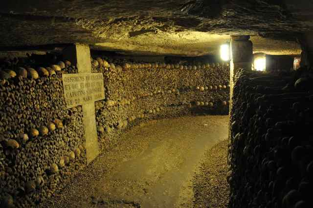 Visitng the Catacombs is one of the top things to do in paris, top things to do paris
