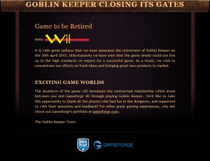 Goblin Keeper Email