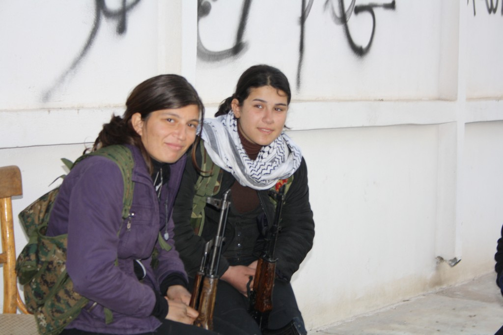 Female Kurdish fighters in Syria. Photo: Jonathan Spyer