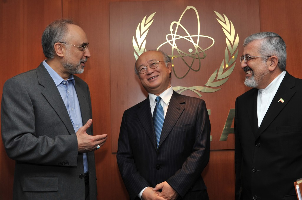 Ali Akbar Salehi, meets with IAEA Director-General Yukiya Amano at the IAEA's headquarters in Vienna. Photo: Dean Calma / IAEA / flickr