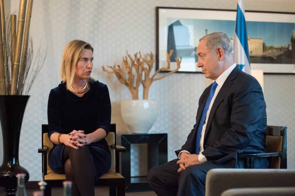 EU High Representative Federica Mogherini meets with Israeli Prime Minister Benjamin Netanyahu in Berlin, October 22, 2015. Photo: EEAS / flickr