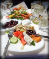 Greek lunch - yum!