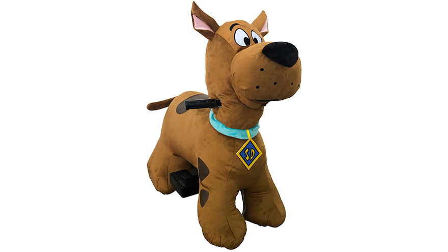 scooby doo 6v plush ride on the toy