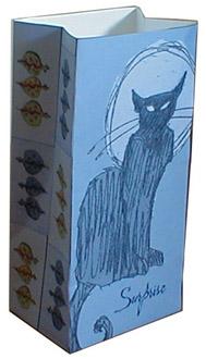 Boite en papier chat DIY