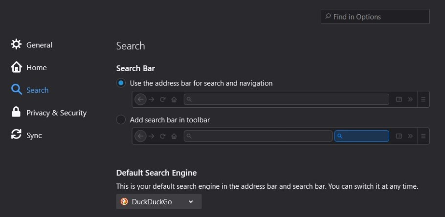 firefox _ search engine settings