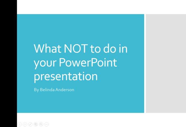 Run a Slideshow in PowerPoint