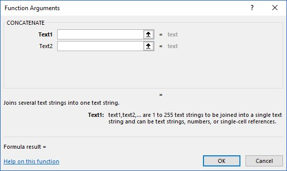 Use Concatenate to join text together in Excel