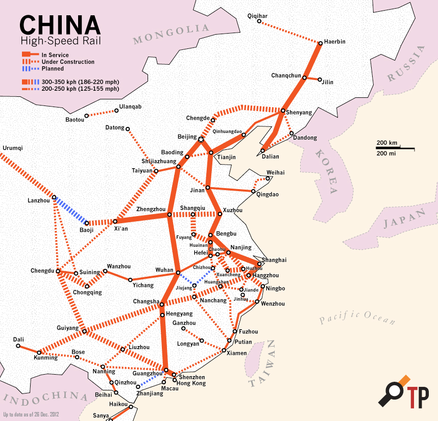 high speed rail in china the transport politic