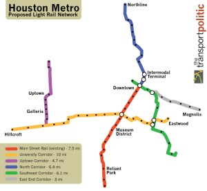 Houston Light Rail Network