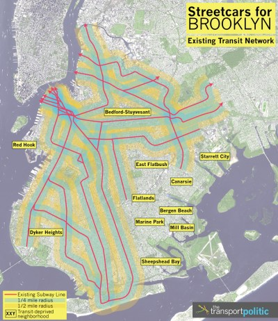 Existing Brooklyn Transit Network