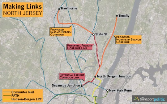 North New Jersey Transit Plans