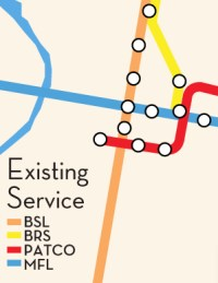 Existing Philadelphia Transit Service