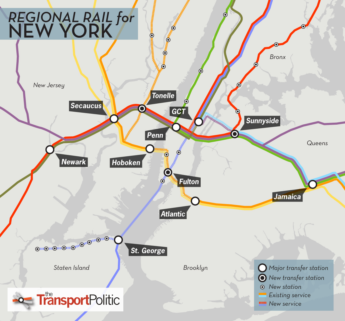 Penn Station Nyc Map Inside.Regional Rail For New York City Part Ii The Transport Politic