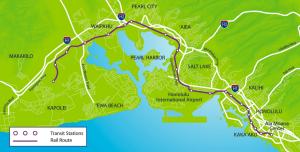 Honolulu Rail Transit Map