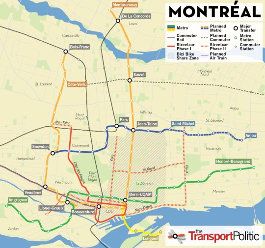 Montreal Transit Investments Map